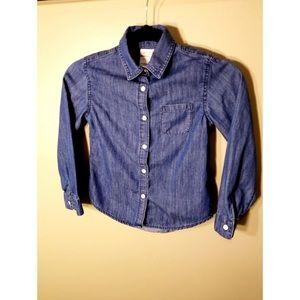 Cat & Jack Girls' Denim Long Sleeve Shirt